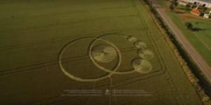 O agroglifo de Prudentópolis filmado por um drone